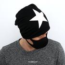 毛帽 白色大星長版棉質薄款【NH280】