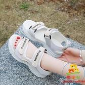 網紅涼鞋女仙女風羅馬學生百搭運動厚底平底鞋時尚ins潮【樂淘淘】