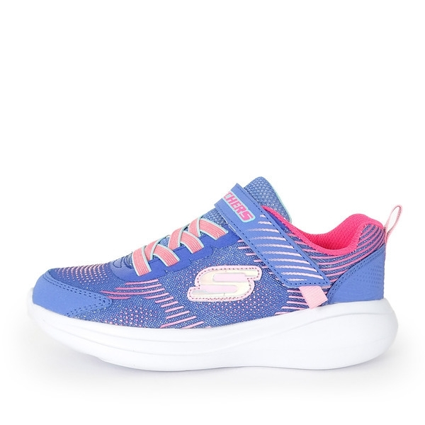 Skechers Go Run Fast [302403LBLMT] 中童鞋 運動 休閒 跑步 保護 透氣 舒適 藍