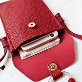 韓版新款小包包二層零錢手機袋單肩小包流蘇斜挎手機包迷你女包潮