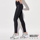 Mollifix 瑪莉菲絲 側條撞色拼接訓練褲 (暗銀)