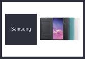 SAMSUNG GALAXY S10+ LED 原廠皮革翻頁式皮套 (公司貨)