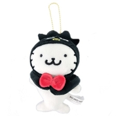 小禮堂 酷企鵝 海豹 玩偶吊飾 絨毛 娃娃 吊飾 掛飾 鑰匙圈 (黑白 頑皮海豹) 4549466-06155