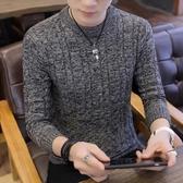 秋冬季男士毛衣2019新款韓版青少年男裝韓版男加厚套頭針織打底衫-ifashion