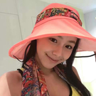 SUNSOUL/HOII/后益-花漾法式優雅圓筒帽 UPF50+ 紅光