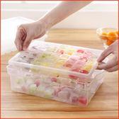 冰箱創意制作冰格凍冰塊模具帶蓋制冰盒模型冰塊盒無毒家用大 全館免運