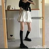 蓬蓬裙白色顯瘦蓬蓬A字裙女裝減齡短裙夏季韓版百搭高腰半身裙學生裙子 雲朵走走