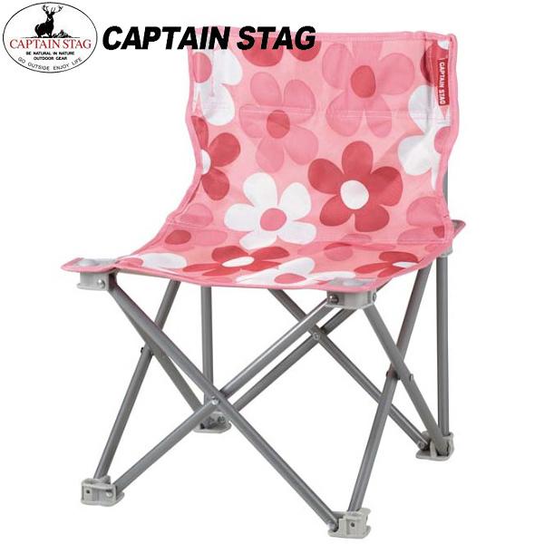 Captain Stag 鹿牌 UC-1594 花花野營椅-粉  休閒椅/摺疊椅/摺椅/登山露營