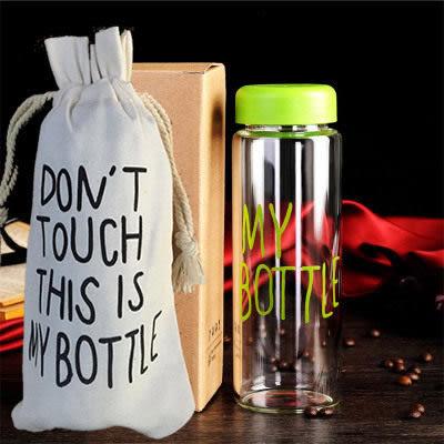 水杯    My Bottle透明質感隨身杯550ml(送麻布套) 寬口杯 水瓶 運動水壼 食品級PP 【KCP006】-收納女王