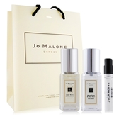 Jo Malone 青檸羅勒葉+鼠尾草(9mlX2)+杏桃花與蜂蜜針管香水 -贈提袋