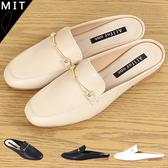 女款 韓國雜誌款 氣質方頭低跟 穆勒鞋 包鞋 休閒鞋 平底鞋 懶人鞋 MIT製造 59鞋廊