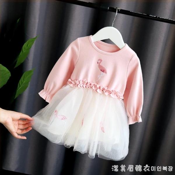 女童佯裝/連衣裙新款秋裝周歲生日兒童女寶寶公主裙2嬰兒1-3歲春秋洋氣 美眉新品