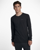 Hurley DRI-FIT ONE AND ONLY 2.0 LONG SLEEVE 長袖T恤-DRI FIT-黑(男)