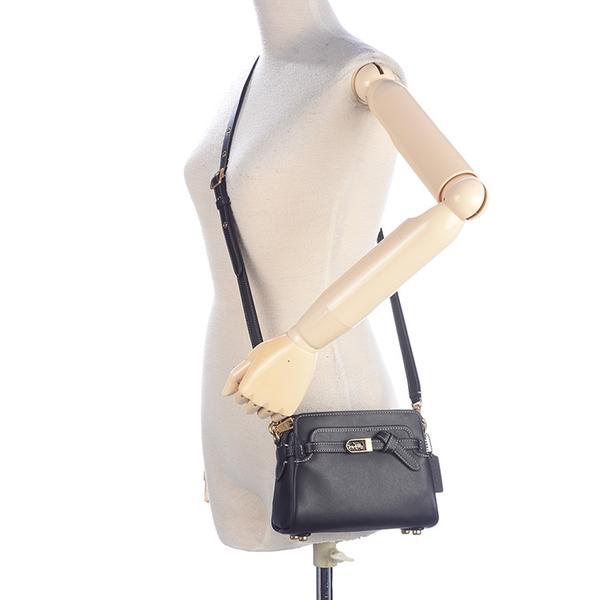 COACH Tate18 Carryall質感皮革肩斜背小型兩用包(黑色)194299