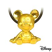 Disney迪士尼金飾 開朗米奇 黃金墜子 送項鍊