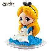 日本限定 迪士尼 Disney Q posket 愛麗絲午茶版 公仔 (一般色)