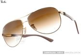 RayBan 太陽眼鏡 RB8313 00151 (金棕) 碳纖維系列率性飛官款 # 金橘眼鏡
