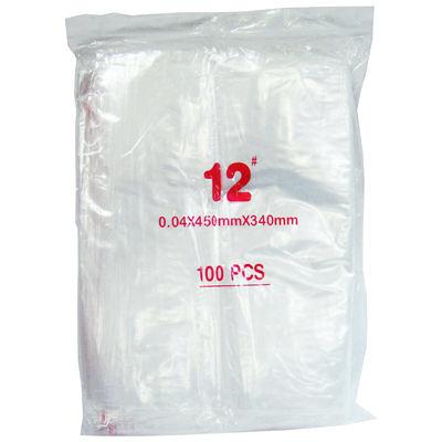 12#密封式夾鍊袋/密封袋/夾鏈袋34x45cm100ps