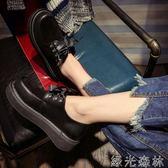 娃娃鞋 鞋子日系原宿英倫小皮鞋復古百搭韓版學生女鞋 綠光森林
