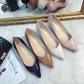 4色 細跟 高跟鞋 貓跟單鞋女5cm中跟簡約V口百搭職業工作鞋黑色女鞋尖頭細跟高跟鞋 巴黎時尚