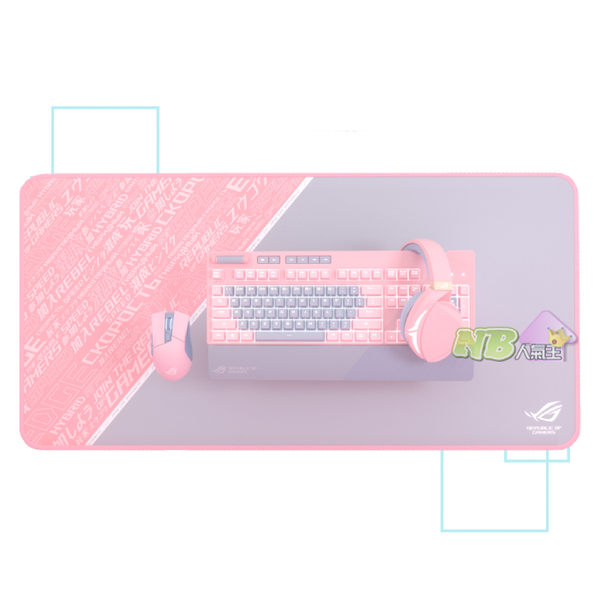 ◤6/30前,限時限量◢ 華碩 ROG PNK系列套組 粉色款 (耳機/青軸鍵盤/滑鼠/滑鼠墊)