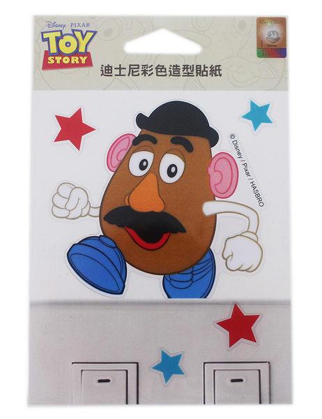 【卡漫城】蛋頭先生 開關貼 ㊣版 彩色造型貼紙 透明防水 迪士尼 玩具總動員 Toy Story 裝飾貼 壁貼