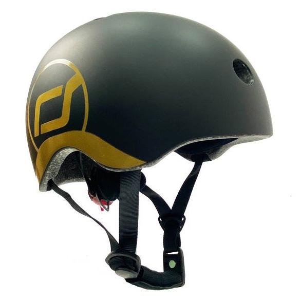 奧地利Scoot&Ride Cool飛 兒童運動用頭盔/防護帽/安全帽(黑金)[衛立兒生活館]