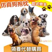 創意仿真3D狗狗抱枕 55cm可拆洗 沙發靠墊辦公室聖誕交換禮物生日禮物【RS513】