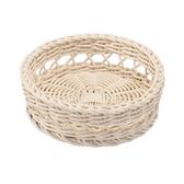 科德斯簍空圓形編織籃W20 米白