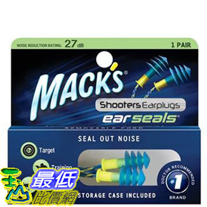 [106美國直購] 耳塞 Mack's Shooters Ear Seals Ear Plugs 1 Pair