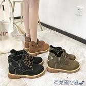 馬丁靴 顯腳小瘦瘦鞋英倫風網紅馬丁靴2021新款女靴秋冬百搭韓版機車靴潮 快速出貨
