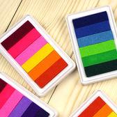✭慢思行✭【K111】六色漸變彩印泥 印油 多色 文具 手作 DIY 卡片 手工 印章 韓國 炫彩 學生