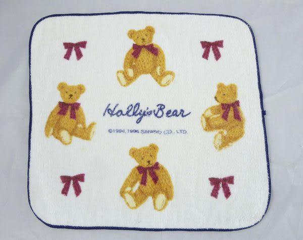 【震撼精品百貨】Holly's Bear 泰迪熊~小毛巾『白底紅蝴蝶結』