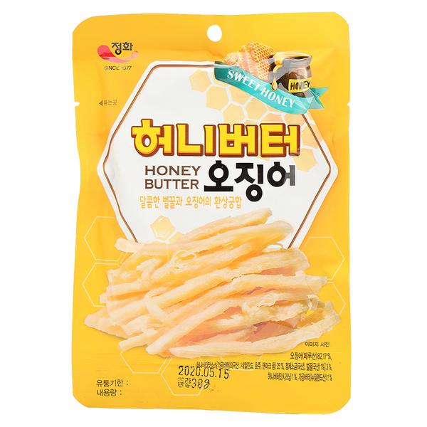 韓國 鄭和 蜂蜜奶油魷魚絲30g【庫奇小舖】
