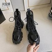 米緹姍網靴鏤空靴真皮馬丁靴女夏季薄款透氣網紅爆款涼鞋網紗涼靴4 幸福第一站