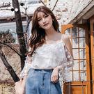 ◆ 露肩設計微露性感,紗質加上繡花設計是必收款式。 ◆ 實際顏色請參考【平拍圖】較為準確。