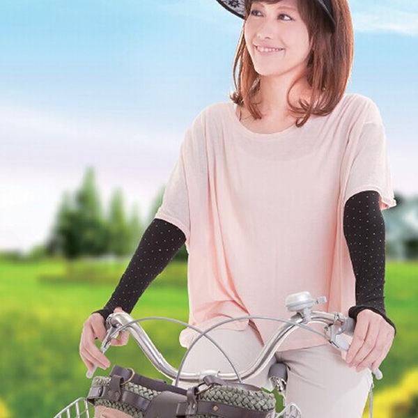 日本防曬袖防紫外線手套袖臂夏女薄長短款臂套電動電瓶車防曬手套    -needs009