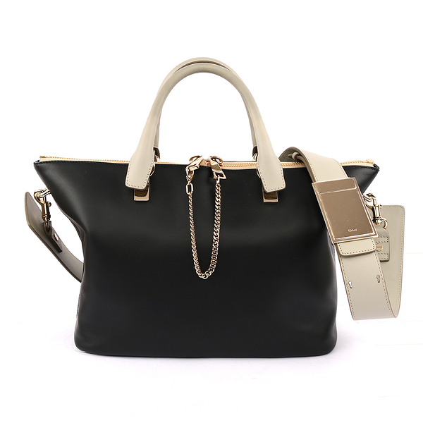【CHLOE】Baylee Small two-tone tote 小牛皮 ( 黑/灰) 3S0169 882 09V(OUTLET)