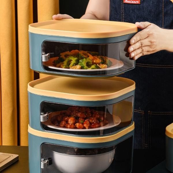 【BlueCat】莫蘭迪可堆疊防塵飯菜罩 (矮款10.5cm) 菜罩 飯菜架 飯菜盒 保溫罩 食物罩 防蟲 剩菜收納