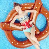 游泳圈 充氣-麵包造型加厚三人水上活動坐騎浮板73ez1[時尚巴黎]