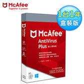 【McAfee】AntiVirus Plus 2019個人標準版 中文(1台1年 盒裝版)