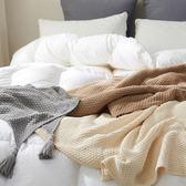 北歐風純色全棉菠蘿紋立體針織流蘇沙發蓋毯休閒毯春夏薄毯子