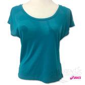 亞瑟士ASICS 女短袖T恤(綠) 寬版設計 方便舒適 瑜珈上衣 151391-8065【 胖媛的店 】