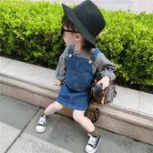 童裝款韓版牛仔裙女童背帶裙 ZL1229『夢幻家居』