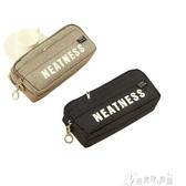 【免運快出】 簡約筆袋學生大容量三層帆布韓國風格大學生小清新創意三層男生款 奇思妙想屋