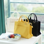 保溫袋 飯盒袋保溫袋學生帶飯午餐包純色日式手拎包手提袋加厚加大【快速出貨八折搶購】