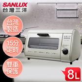SANLUX台灣三洋 8L電烤箱 SK-08A