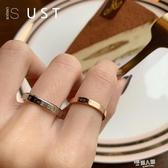 男女鈦鋼食指戒指冷淡風簡約小眾設計學生情侶飾品個性時尚ins潮