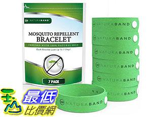 [美國直購] 驅蚊手鐲 Naturaband Mosquito Repellent Bracelets - 7 Pack - All Natural Bug Insect Control B01FUMB2IQ