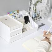 收納盒宿舍梳妝臺簡約純色抽屜式化妝品【3C玩家】